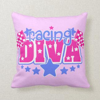 Racing Diva Throw Pillow