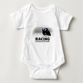 Racing - everything else is just waiting baby bodysuit