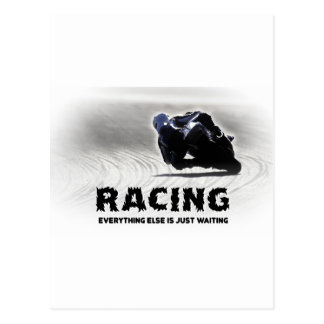 Racing - everything else is just waiting postcard