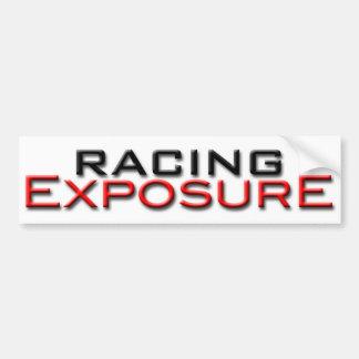 Racing Exposure exterior sticker Bumper Sticker