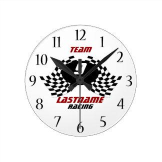 Racing Family Personalizable Clock