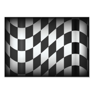 Racing Flag 13 Cm X 18 Cm Invitation Card