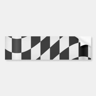 Racing Flag Bumper Sticker