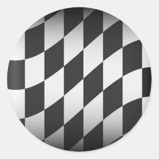Racing Flag Classic Round Sticker
