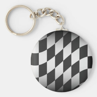 Racing Flag Key Ring