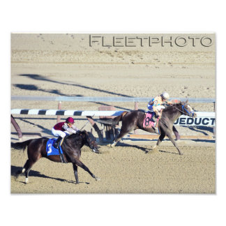 Racing from Aqueduct Photographic Print