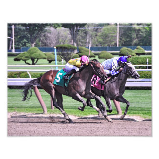 RACING FROM HISTORIC SARATOGA PHOTO PRINT