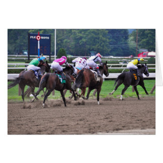 Racing from Historic Saratoga Race Course Greeting Card