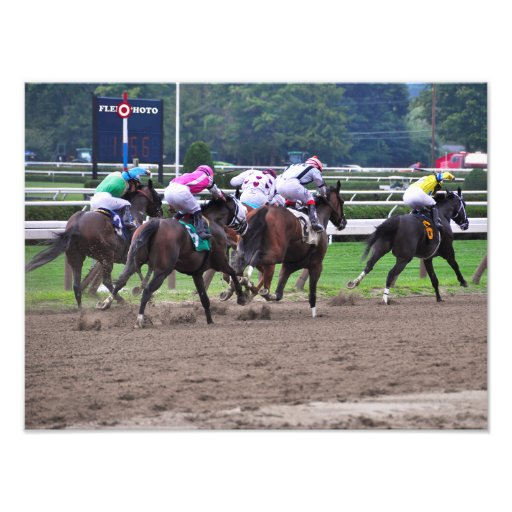 Racing from Historic Saratoga Race Course Photographic Print