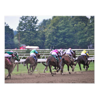 Racing from Historic Saratoga Race Course Art Photo