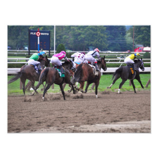 Racing from Historic Saratoga Race Course Photo Print