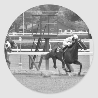Racing from Historic Saratoga Race Course Round Sticker