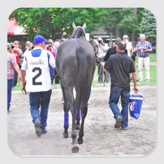 Racing from Historic Saratoga Race Course Square Sticker