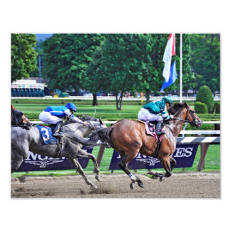 Racing from Saratoga Photographic Print