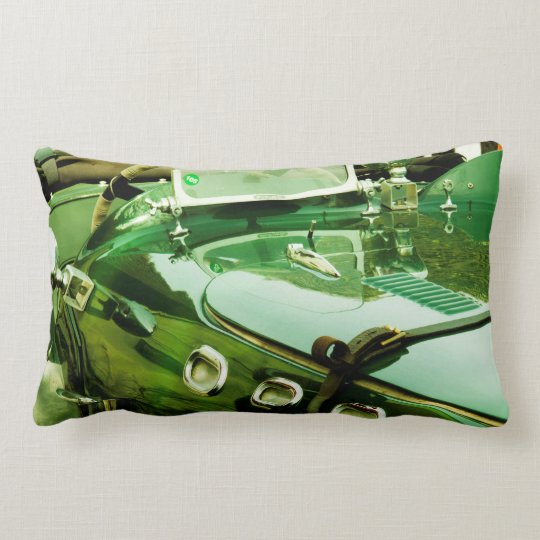 Racing Green Classic Car Photo Cushion Pillow