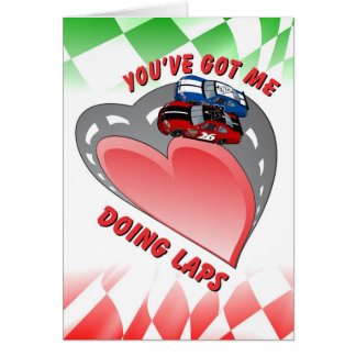 Racing Greeting Card - Valentine's Day