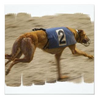 Racing Greyhound Dog Invitation