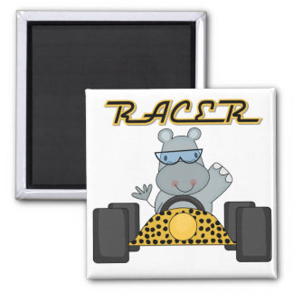Racing Hippo T-shirts and Gifts Magnet