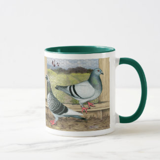 Racing Homers in Loft Mug