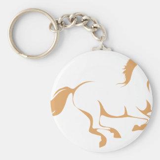 Racing Horse Running Keychains