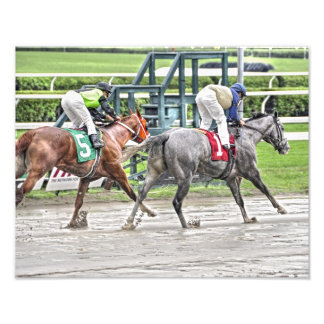 Racing in the Mud at Saratoga Photo