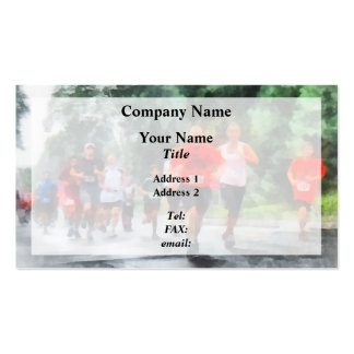 Racing in the Rain Business Card Template