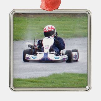 Racing in the Rain Silver-Colored Square Decoration