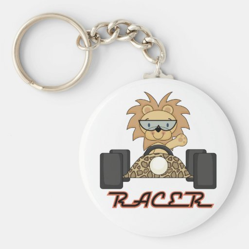 Racing Lion T-shirts and Gifts Keychains