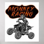 Racing monkey posters