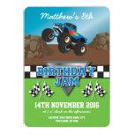 Racing Monster Jam Truck Checkered Birthday 13 Cm X 18 Cm Invitation Card