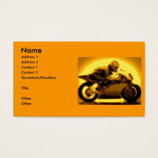 Racing Motorcycle Business Card