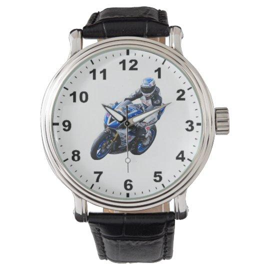Racing motorcycle wrist watches