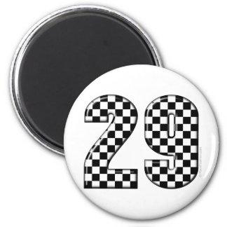 racing number 29 6 cm round magnet