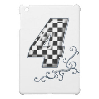 racing number 4 with gray silver desing iPad mini cases