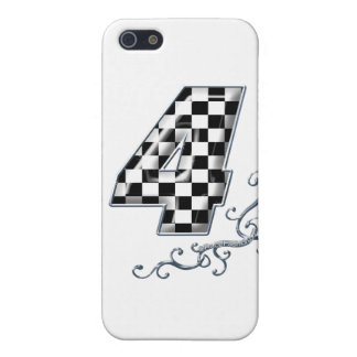 racing number 4 with gray silver desing iPhone 5/5S covers