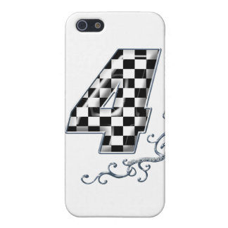 racing number 4 with gray silver desing iPhone 5 case