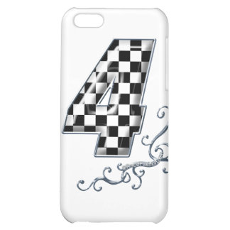 racing number 4 with gray silver desing iPhone 5C cases