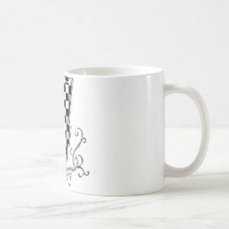 racing number 4 with gray silver desing mugs