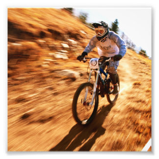Racing Offroad Dirtbike Photo Print