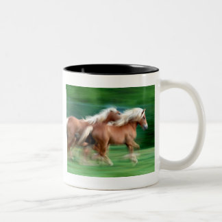 Racing Palomino Horses Ceramic Coffee Mug