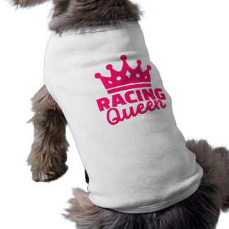 Racing queen sleeveless dog shirt