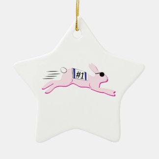 Racing Rabbit Christmas Tree Ornament