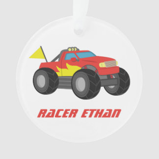 Racing Red Monster Truck, for Boys Room Ornament
