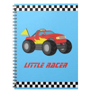 Racing Red Monster Truck, for Racer Boys Spiral Notebook