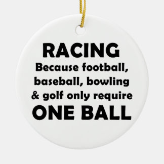 Racing requires balls round ceramic decoration