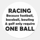 Racing requires balls stickers
