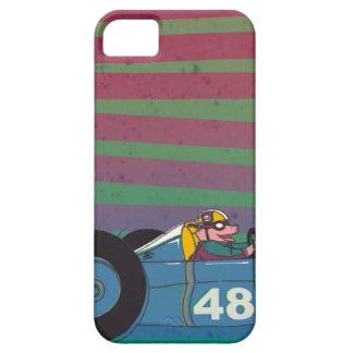 Racing Retro Car Pig iPhone 5 Cases
