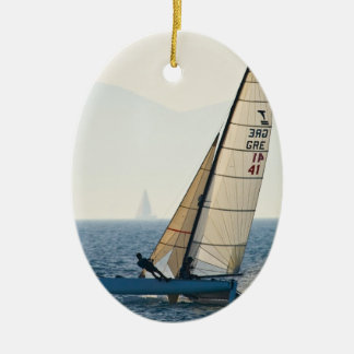 Racing Sailboat Ornament