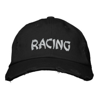 Racing Sports Fun Fast Loud Exciting Track Embroidered Hats