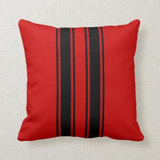 Racing Stripes Throw Pillows